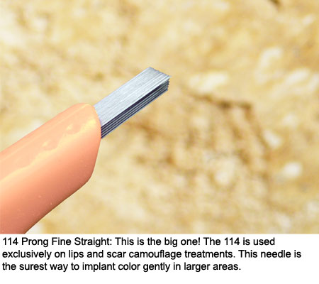 114 Prong Extra Fine Straight Click Tip