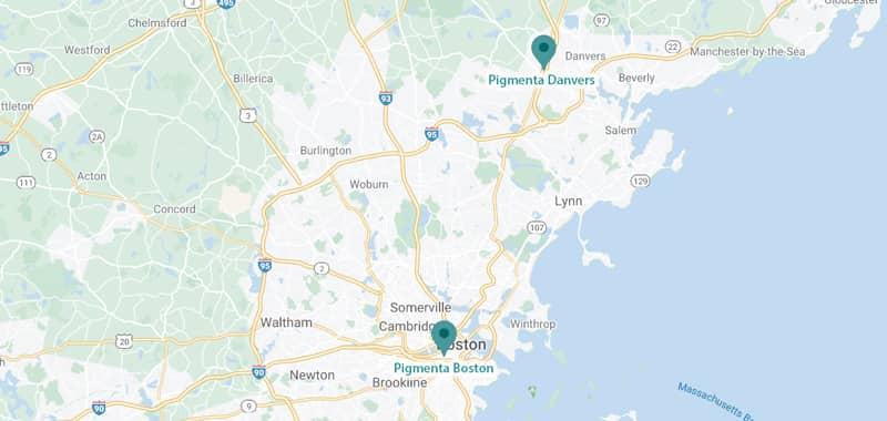 Pigmenta Locations